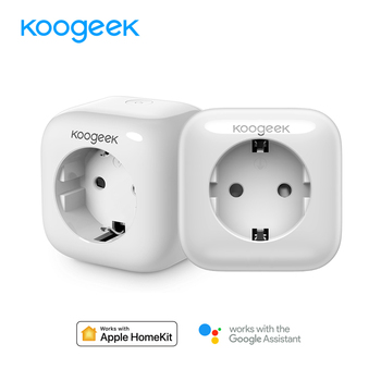 Koogeek 2PCS/Lot Smart Socket Wifi Plug for HomeKit Alexa Google Assistant Siri Control Smart Home Plug Power Energy Monitor Home Automation Modules