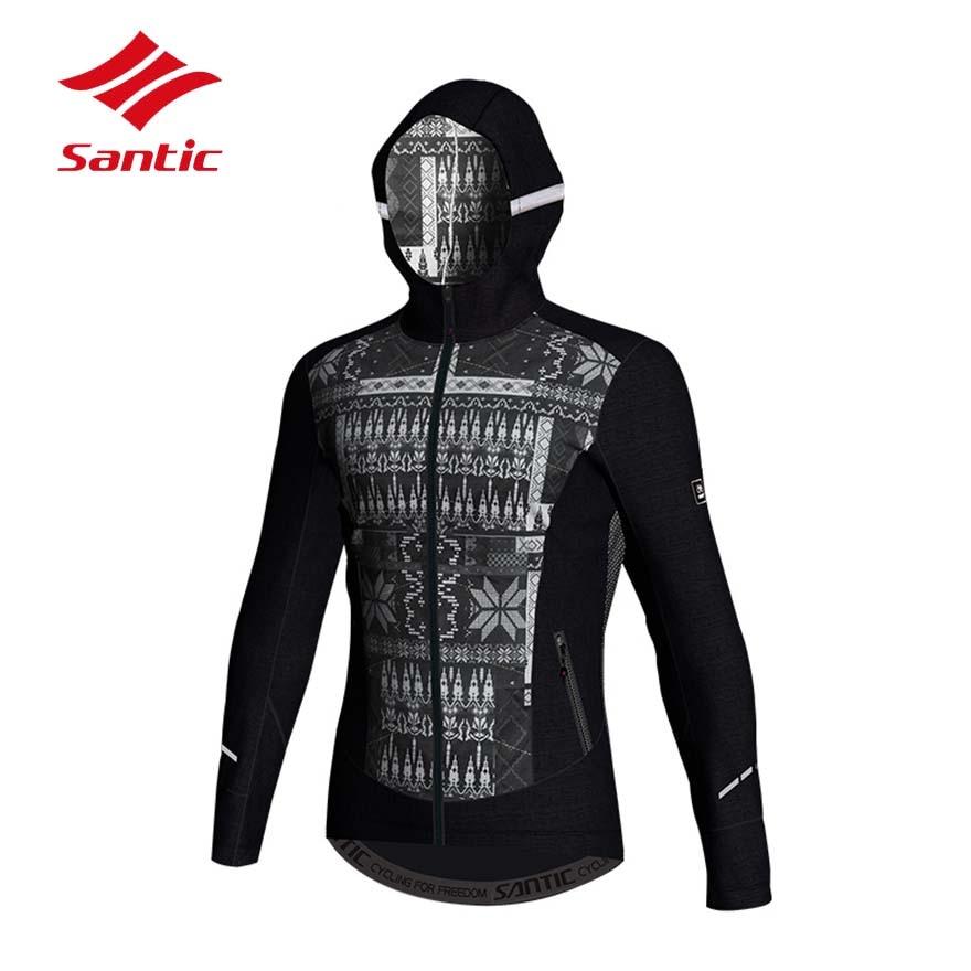 цена Santic Cycling Jacket 2018 Winter Men Windproof Thermal Mountain Road Bicycle Bike Jersey Cycling Clothing Ropa Ciclismo онлайн в 2017 году