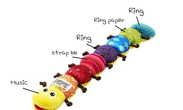 The best Educational Baby caterpillar toys caterpillar shape Musical Inchworm/musical plush toys free shipping