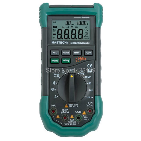 Mastech 5in1 Multimeter Lux Sound Level Humidity MS8229 цена и фото