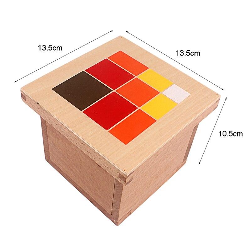 Montessori matériaux bois jouets colorés Cubes trinomiaux boîte trois Cubes en bois dix-huit prismes à base carrée aide à l'enseignement des étudiants - 6