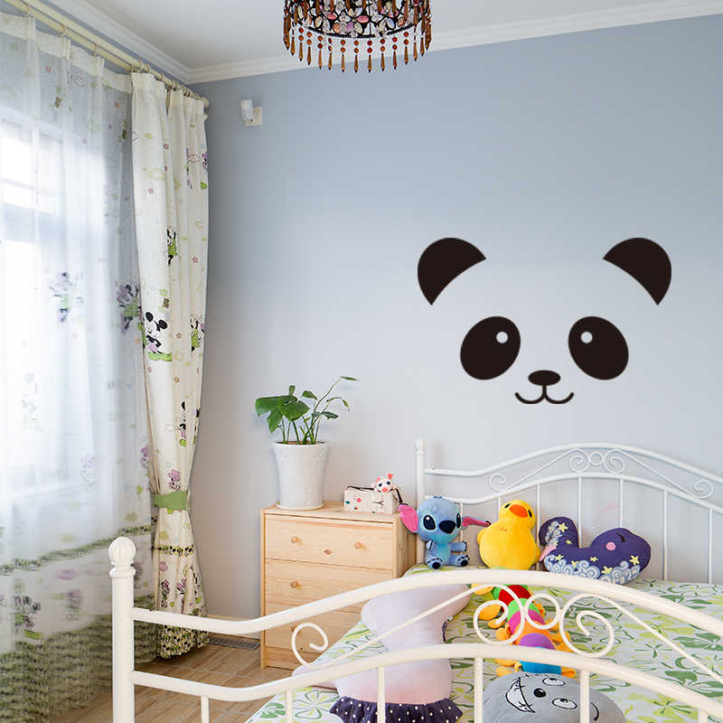 Cute Panda Expression Wall Decals Large Vinly Sticker Funny Children S Room Decorative Stickers For Kids T180327