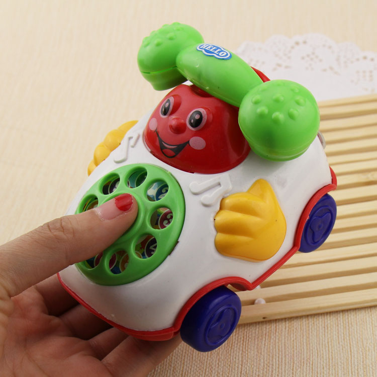 Ideas Pull Small Smile Simulation Telephone Children Play House Gift Educational Unisex 2-4 Years Plastic