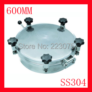 New arrival 600mm SS304 Circular manhole cover with pressure Round tank manway door Height:100mm Hatch new arrival 450mm ss304 circular manhole cover without pressure height 100mm tank hatch
