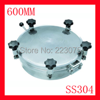 New arrival 600mm SS304 Circular manhole cover with pressure Round tank manway door Height:100mm Hatch