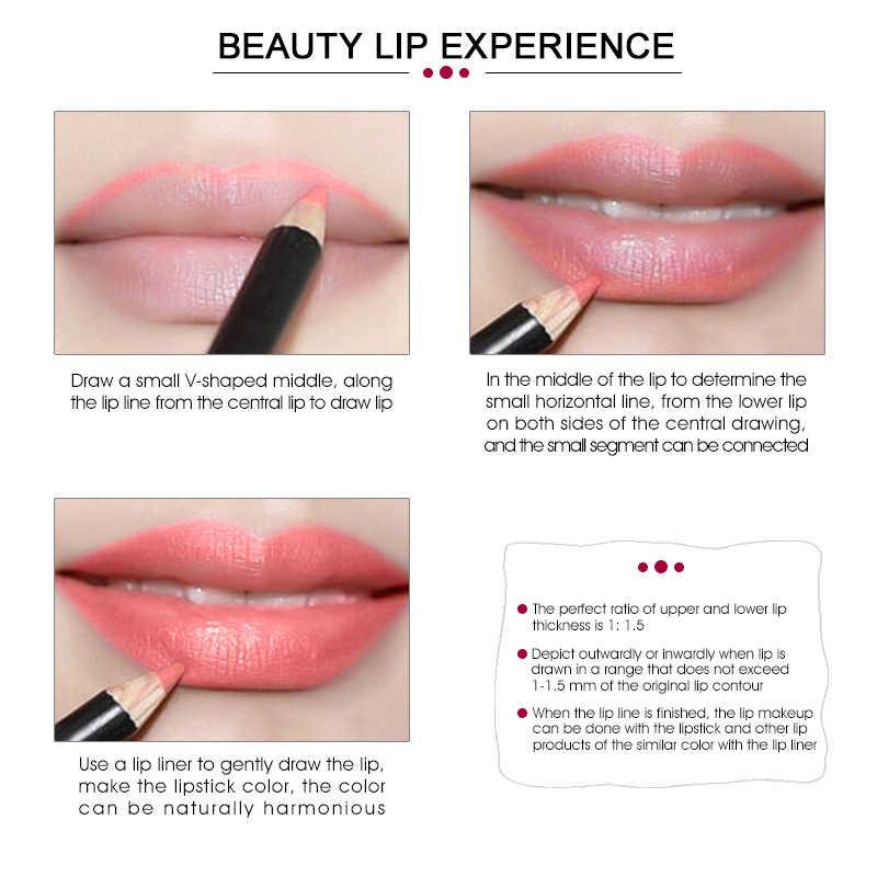 IMAGIC מותג שפתיים קוסמטיקה סט לאורך זמן מט קרם לחות עמיד למים ליפ גלוס איפור גלוס + Lipliner עיפרון