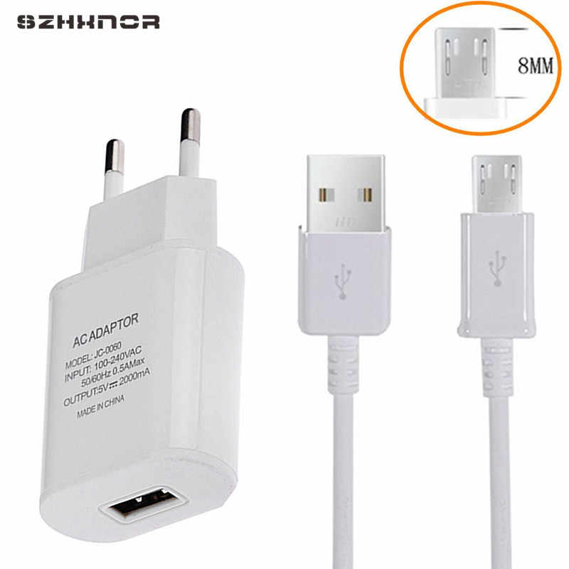8mm Diepe Connector Charger USB voor Leagoo Kiicaa Power Blackview BV6000 Oukitel C8 U20 Plus Micro USB V8 Charger adapter Cabel