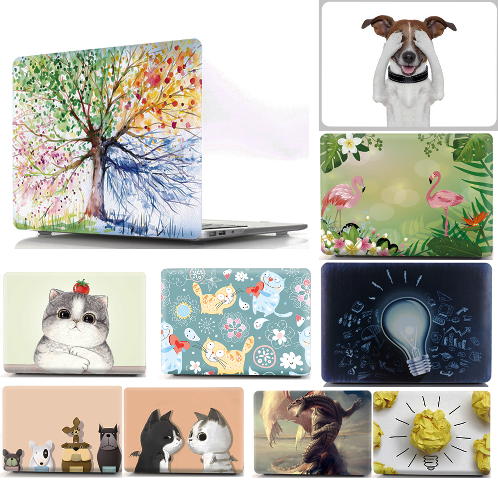 все цены на Cute Animal Pattern Protective Case For Apple Macbook Air 11 13 Pro 12 13 15 Retina Hard Shell for Mac 11.6 13.3 15.4 Bag Sleeve