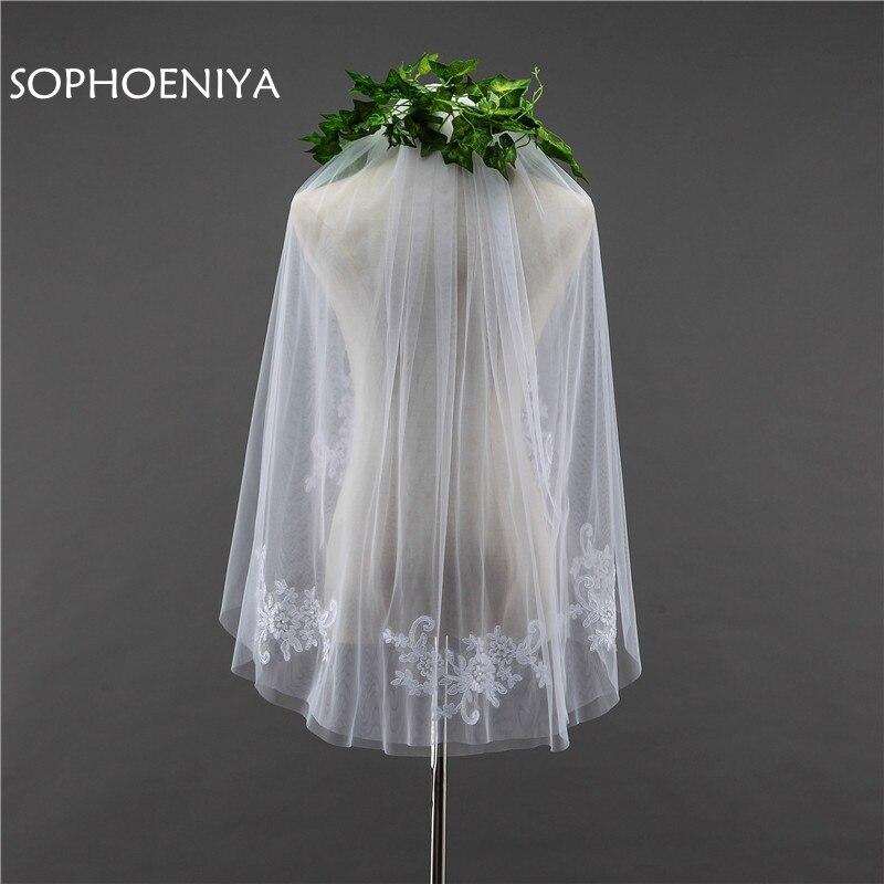 New Arrival Wedding Veil 2020 Two Layer Bridal Veil Cheap Wedding Accessories Sexy Veu De Noiva Voile De Mariee Appliques Lace