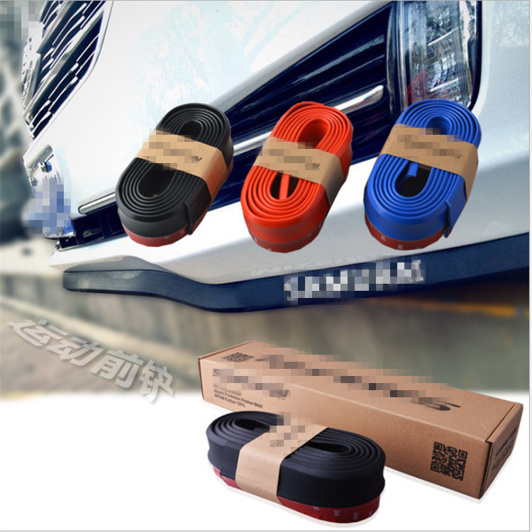 VEELVEE 2.5M Car Protector Front Bumper Lip Car-Styling For  Land Rover discovery 2 3 4 sport freelander 1 defender Accessories dsycar 1pair steering wheel shift paddle extension for land rover aurora freelander 2 discoverer range rover jaguar car styling