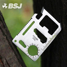 1pc Multi Tools 11 in 1 Multifunction Outdoor Hunting Survival Camping Pocket Military Card Knife Silver Hand tool Knife 1006 multifunction 11 in 1 stainless steel multi tool set deep blue silver