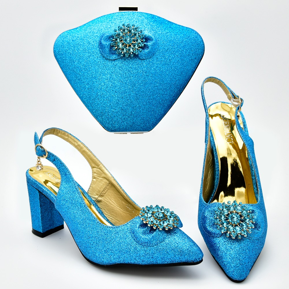 Very nice turquoise blue color italian shoes and bags with size 37 to 42 shoes bags set  for african aso ebi party SB8379-3Very nice turquoise blue color italian shoes and bags with size 37 to 42 shoes bags set  for african aso ebi party SB8379-3