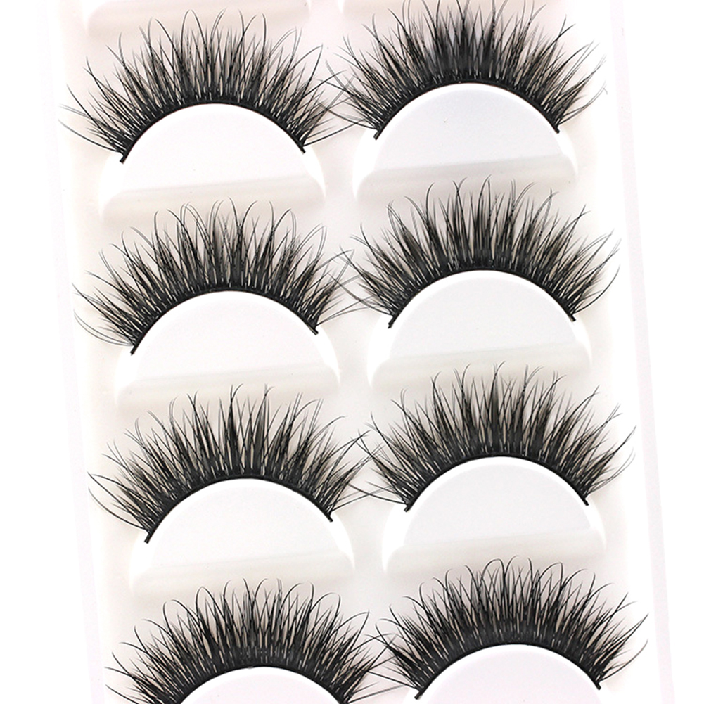 5 pares 3d cílios de olho grosso longo cílios postiços extensão maquiagem beleza tools11.11