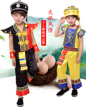 цена на Hmong clothes,  Boys Cosplay Costume, Children Halloween Costume Chinese Minority Clothing masquerade party performance