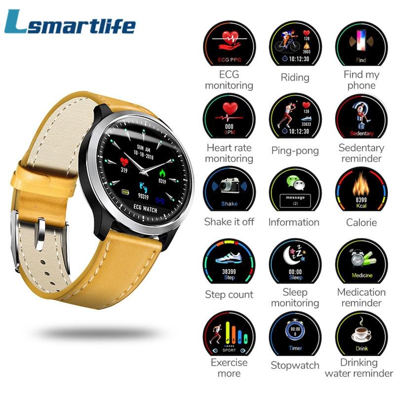 N58 EKG Smart Uhr Mit Elektrokardiogramm Messung Männer Smartwatch Herz Rate Fitness Tracker 3D UI Multisport fahrrad Uhren-in Smart Watches aus Verbraucherelektronik bei AliExpress - 11.11_Doppel-11Tag der Singles 1