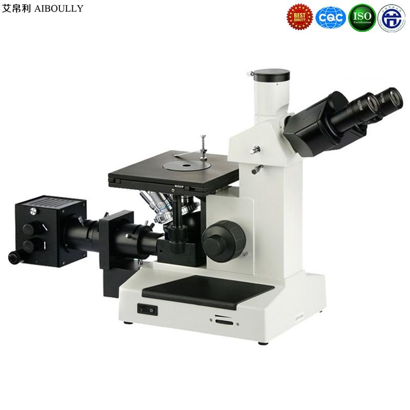 ₩Metalográfico microscopio 1000 veces chip semiconductor ...