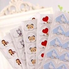 24 шт./лот DIY мультфильм милые животные угол милые бумажные наклейки для фотоальбомов рамки украшения Скрапбукинг 11 цветов