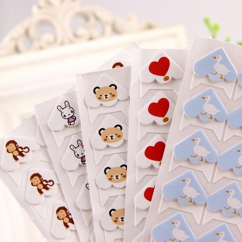24 יח'\חבילה בעלי חיים חמודה Cartoon DIY פינת מדבקות נייר חמוד לאלבומי תמונות מסגרת סיטונאי רעיונות קישוט 11 צבע