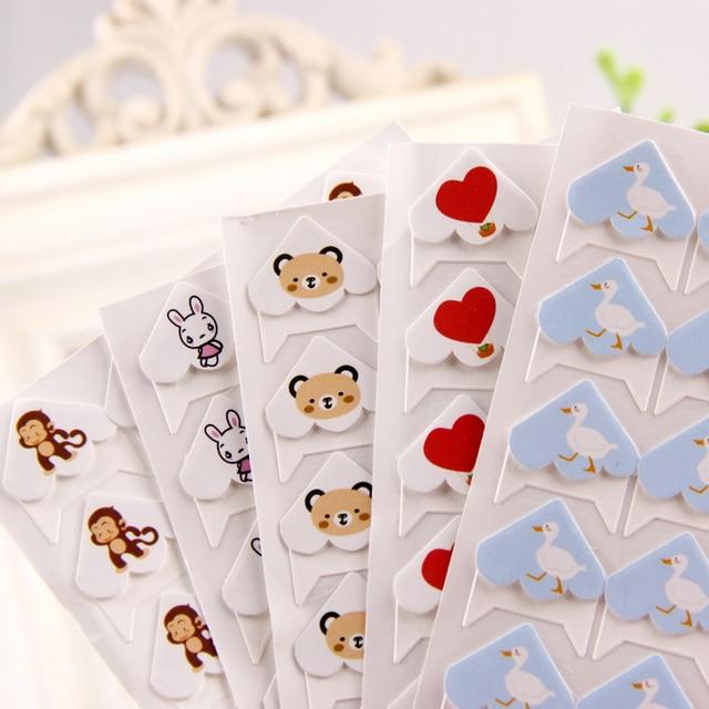 24 יח'\חבילה DIY קריקטורה חמוד חיות פינת חמוד נייר מדבקות לאלבומי תמונות מסגרת קישוט רעיונות סיטונאי 11 צבע
