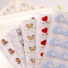 24 pcs/lot DIY Cartoon Cute Animals Corner Paper Stickers for Photo Albums Frame Decoration Scrapbooking Wholesale 11 color