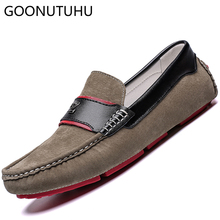 2019 new fashion men's shoes casual suede leather loafers male breathable slip on flat shoe man driving shoes for men hot sale zyyzym men casual shoes pu leather fashion trend light flat driving loafers shoes for man hot sales