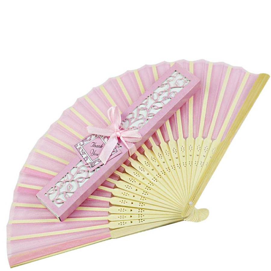 Aliexpress 100pcs Folding Hand Silk Wedding Fan Box Personalized Favor And Gift For Guests Customized Marriage Birthday Party From