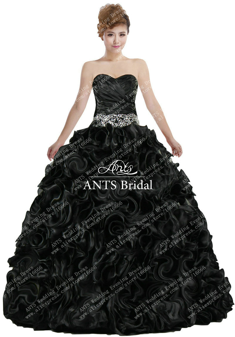 Black Ruffle Prom Dresses