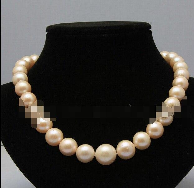 Бесплатная доставка 0001323 прекрасный 11 13 мм розовый пресной воды akoya жемчуг ожерелье