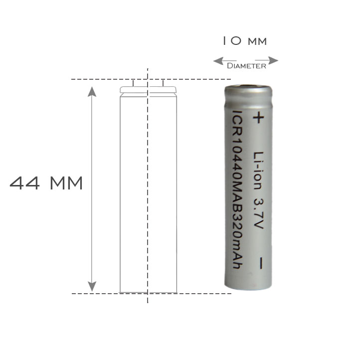 100% kingwei 100* 10440 Batteries <font><b>3.7v</b></font> Li-Ion Battery Rechargeable <font><b>320mah</b></font> Battery Lithium For Laser Pen Electronic Toy Products image