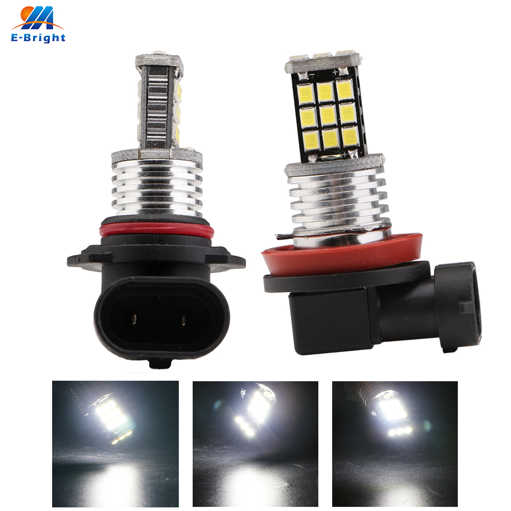 4pcs Canbus 2835 21 SMD Led Bulb H1 H3 H4 H7 H11 9005 9006 Socket Type Error Free Auto Headlight Driving Fog Light Shipping