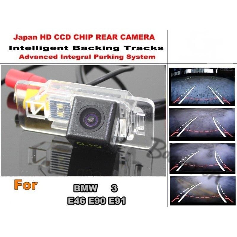 Pour BMW 3 E46 E90 E91 voiture Parking Intelligent pistes caméra/HD CCD sauvegarde caméra arrière/caméra de recul