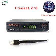 GTMEDIA V7S FREESAT 1080P V7S HD DVB-S2 HD Satellite TV Receiver Support PowerVu Biss Key European Cclines Newcamd via usb Wifi