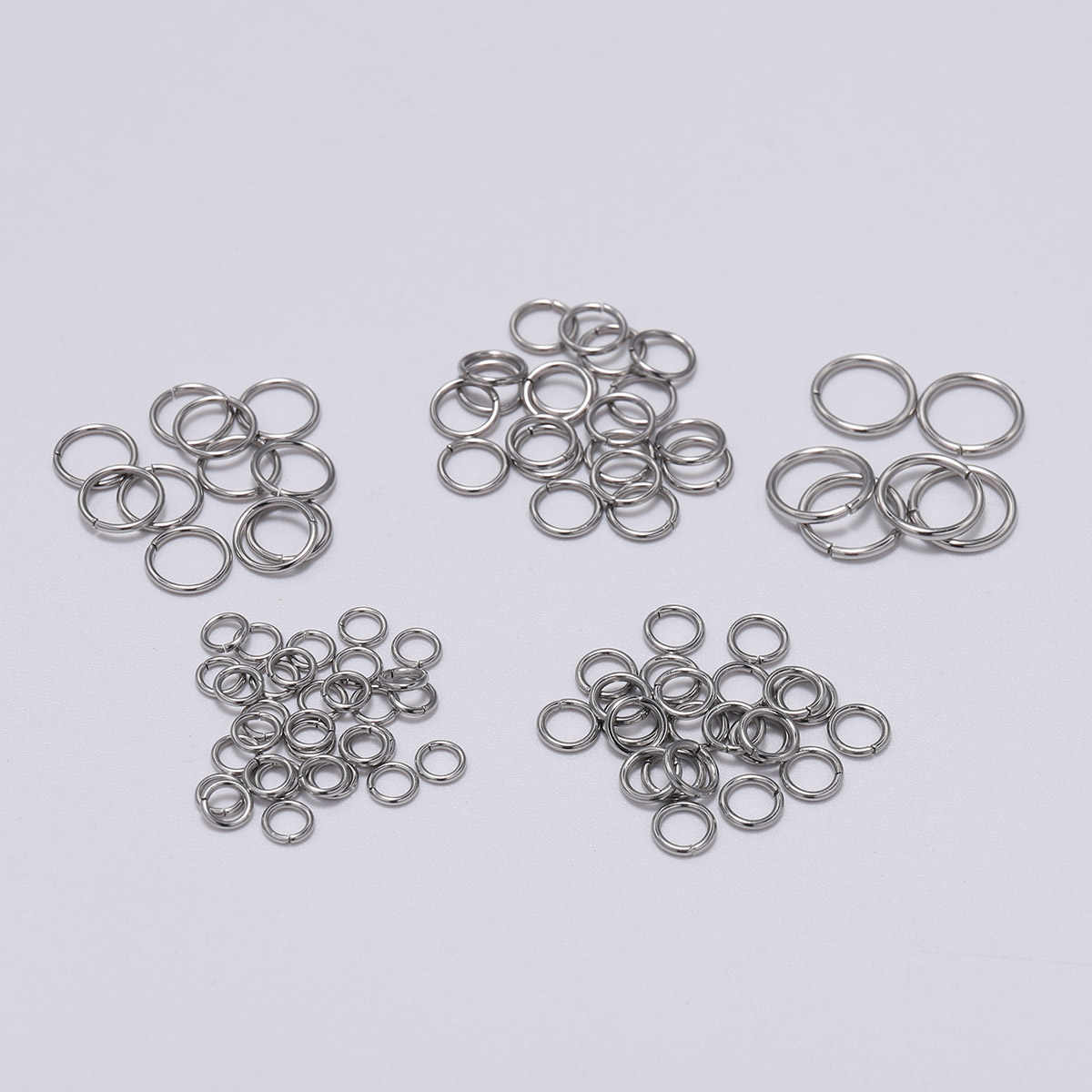 1000pcs Stainless Steel Open Jump Rings Jewelry Finding Craft  4//5//6//7//8//9//10mm