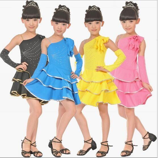 Hot Sale Child Kids Girls Dance Clothes Latin Dance Dress Dance Clothes Dance Costumes