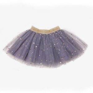 Детские юбки для юбочки для девочек, бальная юбка-пачка с принтом пять звезд, вечерние юбки для малышей, Kawaii, Детская летняя одежда