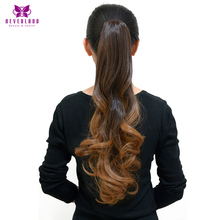 Neverland 20″ Ombre Ponytails Hairpiece Wavy Heat Resistant Synthetic Claw On Hair Extensions Pony Tail for Party 9 Colors