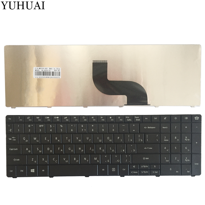 Russian Keyboard For Packard Bell EasyNote TE11 TE11HR TE11-BZ TE11-HC TE11HC NE56R10u NE56R11u NE56R12u RU Laptop Keyboard nv55 ru laptop keyboard for packard bell easynote tv11 ts11 lv11 ls11 p7ys0 p5ws0 ru black laptop keyboard