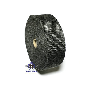 Image 4 - 10M * 2inch  Black Exhaust Heat Wrap Downpipe Engine Bay Exhaust Shields Motorcycle Exhaust Pipe Wrap Header