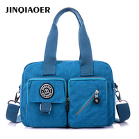 JINQIAOER Women Handbag New Tote Bags Simple Designer Waterproof Nylon Crossbody Bag Large Messenger Shoulder Bag