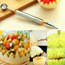 Multifunctional Ice Cream Dig Ball Scoop Spoon Baller DIY Assorted Cold Dishes Watermelon Fruit Carving Tools Knife