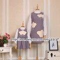 Children clothing Мать Дочь Платье Жилет, 2-10 лет Ребенок Девушка Одежда облака Дождь, женщины плюс Большой размер увеличение 4XL