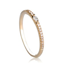 Blucome Rectangle Baguette CZ Zircon Rings For Women Gold-color Party Copper Finger Jewelry Female Thin Stacking Tail Ring Anel