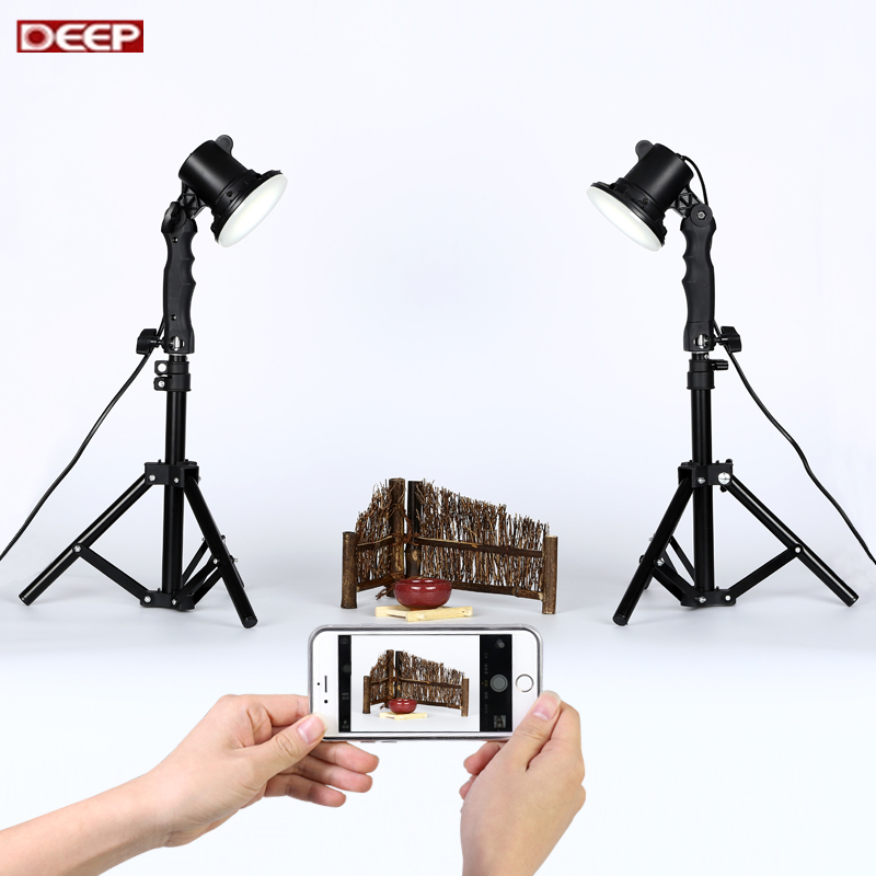 Diy 2pcs LED lamp +2pcs 40CM light stand MINI Photo studio ...