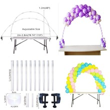 Balloons Holder Column Stand Balloon Arch Kit Plastic with Frame Base Pole and Ballons Clips for Birthday Wedding Event Party