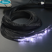 Maykit Outdoor Using 3mm Black Covered Cable End Glow Plastic Fiber For Starry Star Floor For Sauna Swimming Pool Decoration