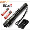 2X18650 4000 mAH Bateria + 2000LM CREE XM-L T6 Zoom Lanterna Tática LED Lanterna Tocha 5 Modo + carregador de Frete grátis