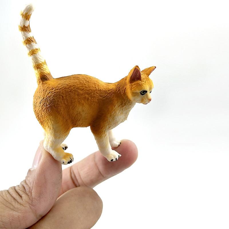 Simulación de granja mini modelo animal del gato pequeñas figuras - Figuritas de juguete - foto 6