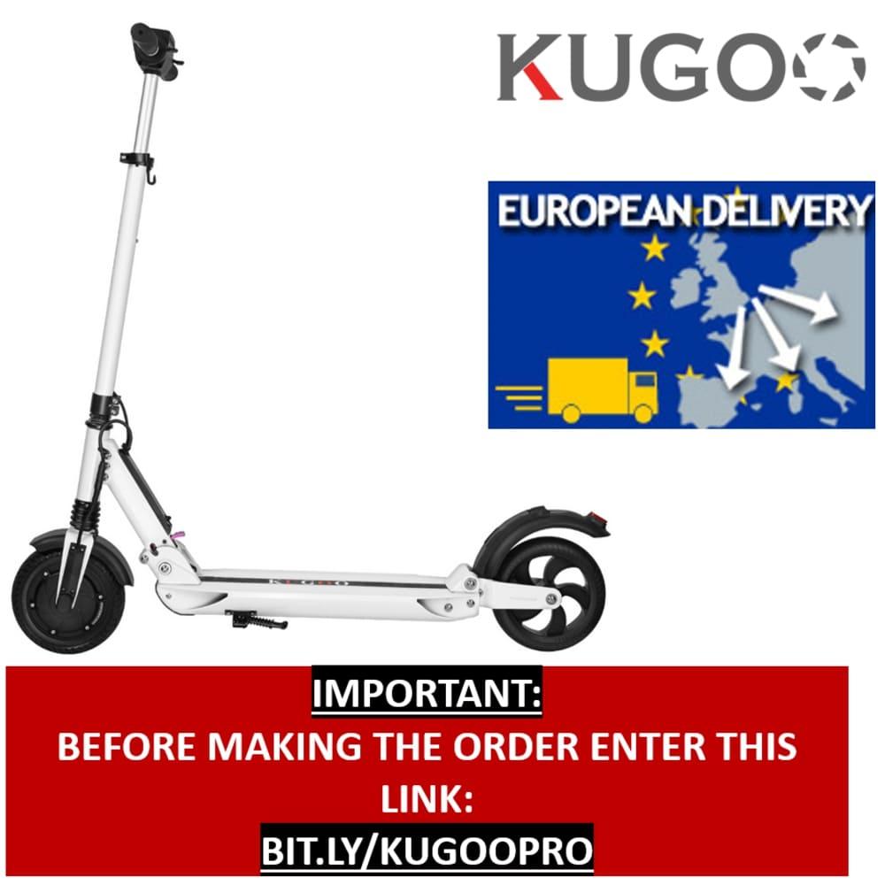 [Polónia Estoque] KUGOO S1 Dobrar Scooter Elétrico 350W Do Motor Display LCD Tela 3 Modos de Velocidade de 8.5 Polegadas pneu Traseiro sólido Anti-Skid