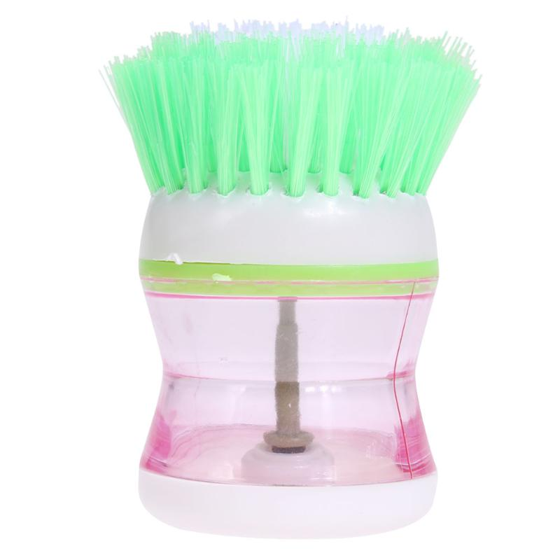 Hydraulic Dish washing brush Pan Pot Bowl Cleaning Brush Rust Remover Cleaning Stick Wash Kitchen helper Random Color
