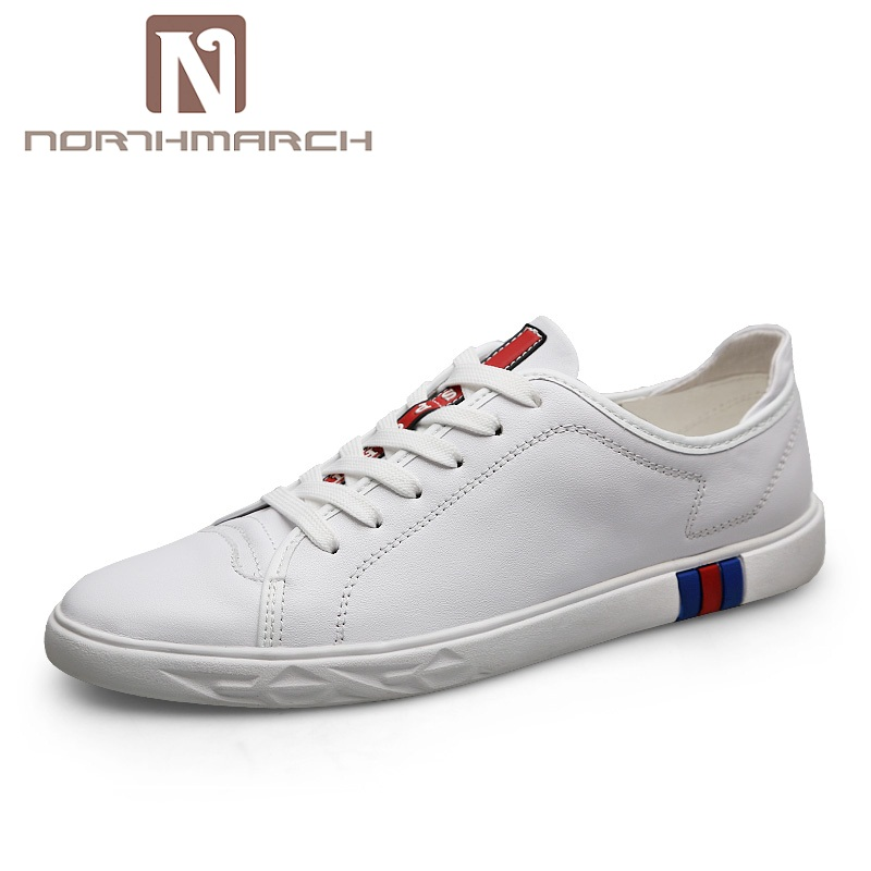 NORTHMARCH Men Shoes 2018 Fashion Brand Sneakers Men Genuine Leather Spring/Autumn Casual Shoes Men Zapatos Hombre Casual Cuero northmarch brand genuine leather men casual shoes fashion style leather men shoes designer casual shoes for sneakers men summer